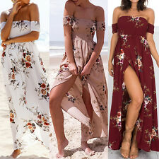 Sexy Women Floral Short Sleeve Party Evening Cocktail Long Maxi Dress Sundress Y