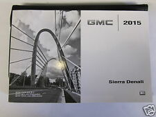 2015 GMC SIERRA DENALI ENGLISH OWNERS OWNER'S MANUAL USA CANADA MR REMOTES INC