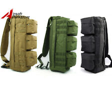 Tactical Military Molle Go Bag Shoulder Bag Hunting Camping Hiking Chest Pouch