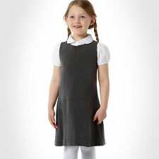 Ex-Debenhams - Girls Quality Zip Front School Tunic/Pinafore Dress  age  8 yrs