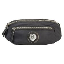 New Mens Versus Black Lion Head Polyamide Bum Bag Shoulder