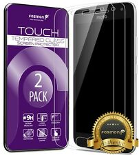 Fosmon 2X HD Clear Tempered Glass Screen Protector for Motorola Moto G5 Plus