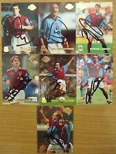 AUTOGRAPHED MERLIN/TOPPS PREMIER GOLD 99 CARDS: TEAMS WHU-WIM: FREE UK P&P!!!