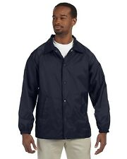New Harriton Mens Nylon Staff Jacket Big Sizes 2XL & Up