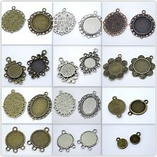 CABOCHON SETTINGS CHOOSE STYLE ANTIQUE GOLD SILVER NEW JEWELLERY MAKING UK