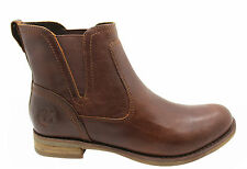 Timberland Earthkeeper Savin Hill Chelsea Boots Womens Brown Slip On 8556A D106