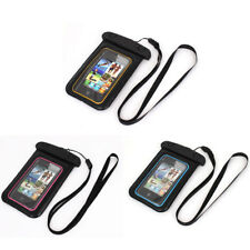 """Waterproof Swimming Pouch Bag Case for 4.5"""" Cell Phone w Neck Strap"""