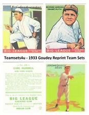 1933 Goudey Reprints Baseball Set ** Pick Your Team **