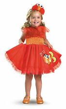 Girls Frilly Elmo Toddler Childs Cute Fancy Dress Up Sesame Street Costume Party