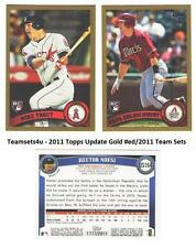 2011 Topps Update Gold (#ed/2011) Baseball Set ** Pick Your Team **