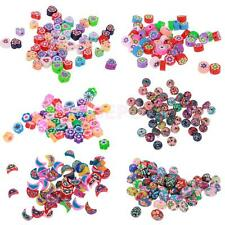 50pcs Vary Style Polymer Clay Beads Charms for Jewelry Making Craft Findings