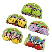Infant Baby Animal Wrist Foot Sock Rattles Soft Developmental Toys Finders