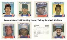 1988 Starting Lineup Talking Baseball All-Stars Set ** Pick Your Team **