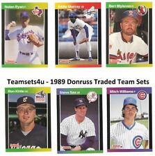 1989 Donruss Traded Baseball Set ** Pick Your Team **