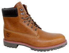 Timberland 6 Inch Premium Woven Mens Boots Brown Leather Lace Up Shoes 9633B U87
