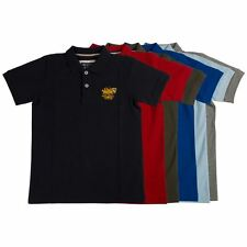 Santa Monica Polo Club Boys Classic Polo Shirt Short Sleeved Top Collared Tee