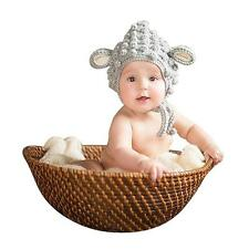 Fashion Newborn Baby Hat Crochet Knit Photo Photography Prop Only Caps Hats
