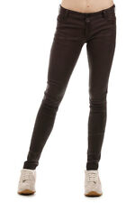 DROME New Woman Brown Leather Pants Trousers Made in italy