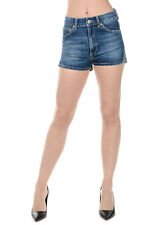 DONDUP New woman Blue JEANS DENIM Cotton Pants Shorts Made in Italy