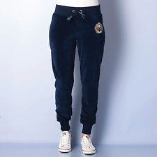 Womens Chilli Pepper Velour Pants In Navy From Get The Label