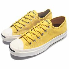 Converse Jack Purcell Jack OX JP Yellow White Men Classic Shoes Sneakers 144381C