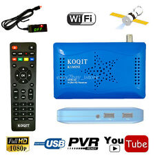 DVB-S2 AC3 Digital Satellite Receiver + Youtube weather Support WIFI Key Decoder