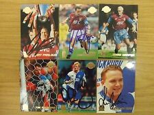 AUTOGRAPHED MERLIN/TOPPS PREMIER GOLD 99 CARDS: TEAMS A-CH: FREE UK P&P!!!