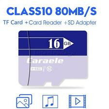 Caraele TF Micro SD HC Flash Memory Card Storage with Card Reader & Adapter