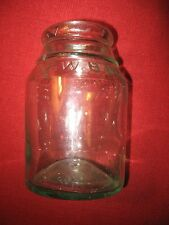 VINTAGE RARE FRUIT JAR MASON CANNING ANTIQUE GLASS TW T.W. BEACH GROWER NR