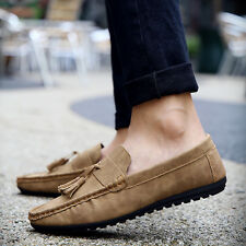 Fashion Vintage Men's Suede Leather Tassels Casual Moccasin Loafers Flats Shoes
