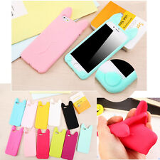 3D Cute Candy Cartoon Cat Ear Soft Silicone Case Cover For iPhone 7 6 6S Plus