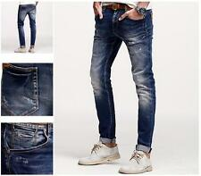 New!!!Ne Men Jeans Mid-Rise Trousers Slim Skinny Blue Pants Cotton 28 to 36 Size