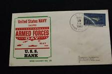 NAVAL COVER BECK 1962 SHIP CANCEL ARMED FORCES DAY USS HANK (DD-702) (3918)
