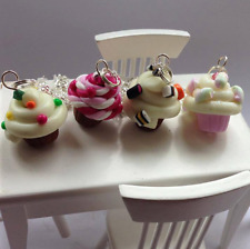Fun polymer clay cupcake necklace 4 patterns