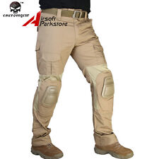 Emerson G2 Tactical Military Combat BDU Pants with Knee Pads Coyote Brown 30-38W