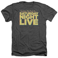 Saturday Night Live SNL Live From Ny Mens Heather Shirt CHARCOAL