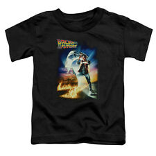 Back To The Future Poster Little Boys Toddler Shirt Black