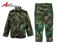 Military Special Force Army Tactical Combat BDU Uniform Shirt Pants Woodland