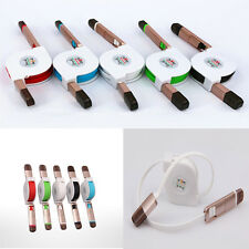 Micro USB 2-In-1 Retractable Sync Data Charger Adaptor Cable For iPhone Android