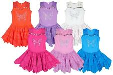 Girls Crochet Sequin Butterfly Gypsy Style Summer Sun Dress 2 to 8 Years NEW