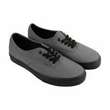 Vans Authentic Mens Gray Canvas Lace Up Lace Up Sneakers Shoes