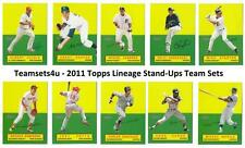 2011 Topps Lineage Stand-Ups Baseball Set ** Pick Your Team **