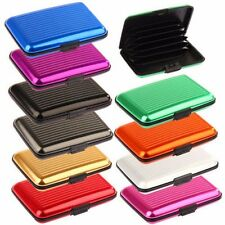 Waterproof Business ID Credit Card Wallet Holder Aluminum Metal Case Box Sales