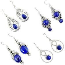 Lapis 925 sterling silver earrings handmade jewelry by jewelexi 4879A