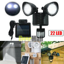 22 LED Dual Head Security Detector Solar Power Spot Light Motion Sensor Outdoor