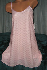 Nightgown Slip Chemise 1X 2X 3X Plus Size Pink Short Gown Poly Knit Jacquard