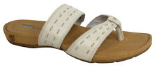 Timberland Earthkeepers Leather Fabric Thong Womens Sandals Ivory 25634 U71