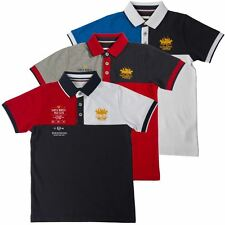Santa Monica Polo Club Boys Casual Short Sleeve Polo Shirt Brand Top Collar Tee
