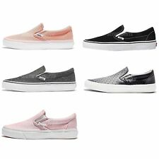 Vans Classic Slip-On Unisex Men Women Skate Boarding Shoes Sneakers Pick 1