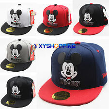 Kids Boy Girl Adjustable Mickey Cartoon Baseball Cap Snapback Hip-hop Sports Hat